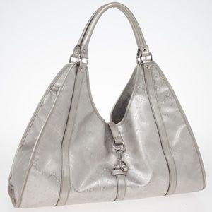 Gucci Silver GG Joy Pushlock Large ( Lightly Used)